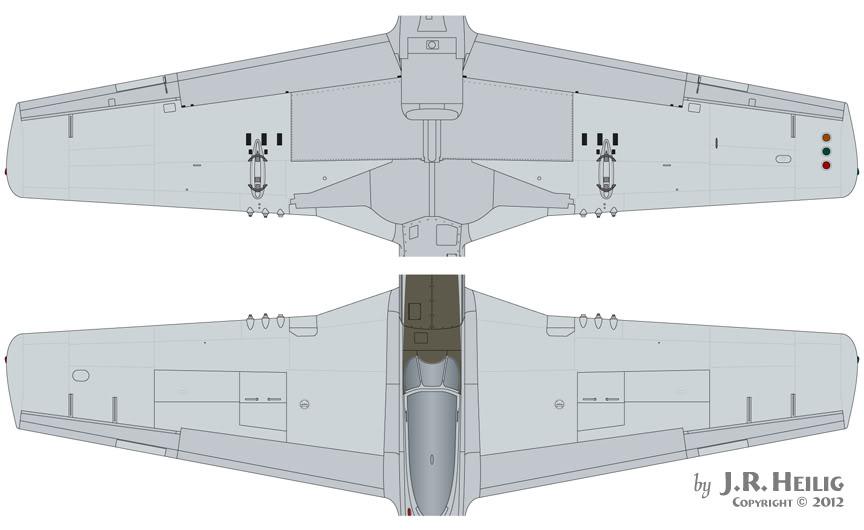 P 51 Puttied Wings Diagram Wings Tracks Guns