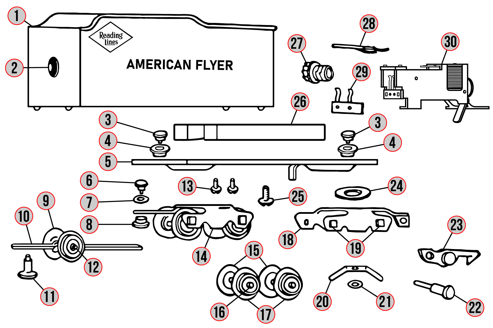 American Flyer  302ac  Part And Wiring Diagrams