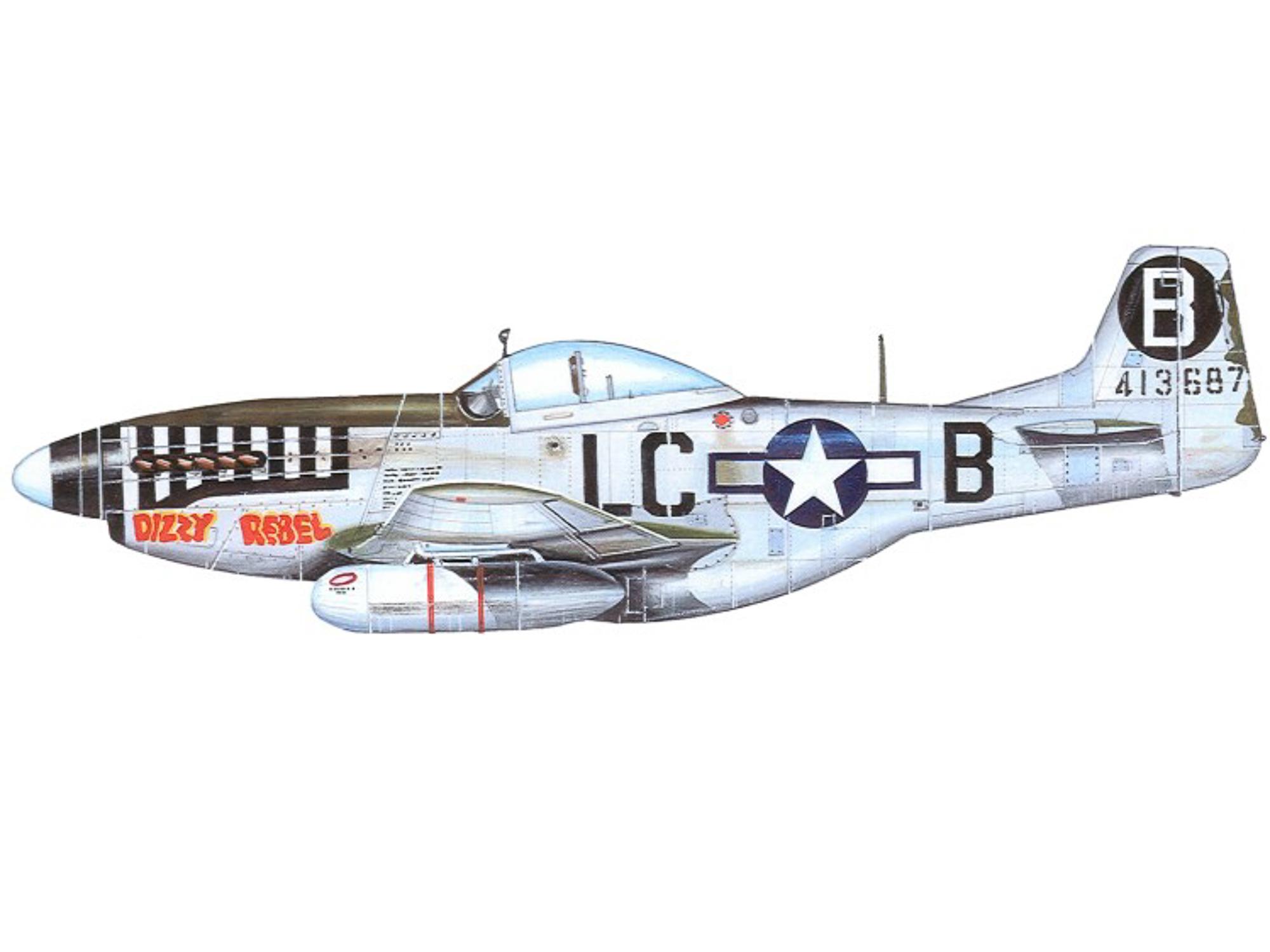 P-51D – Dizzy Rebel – 44-13687
