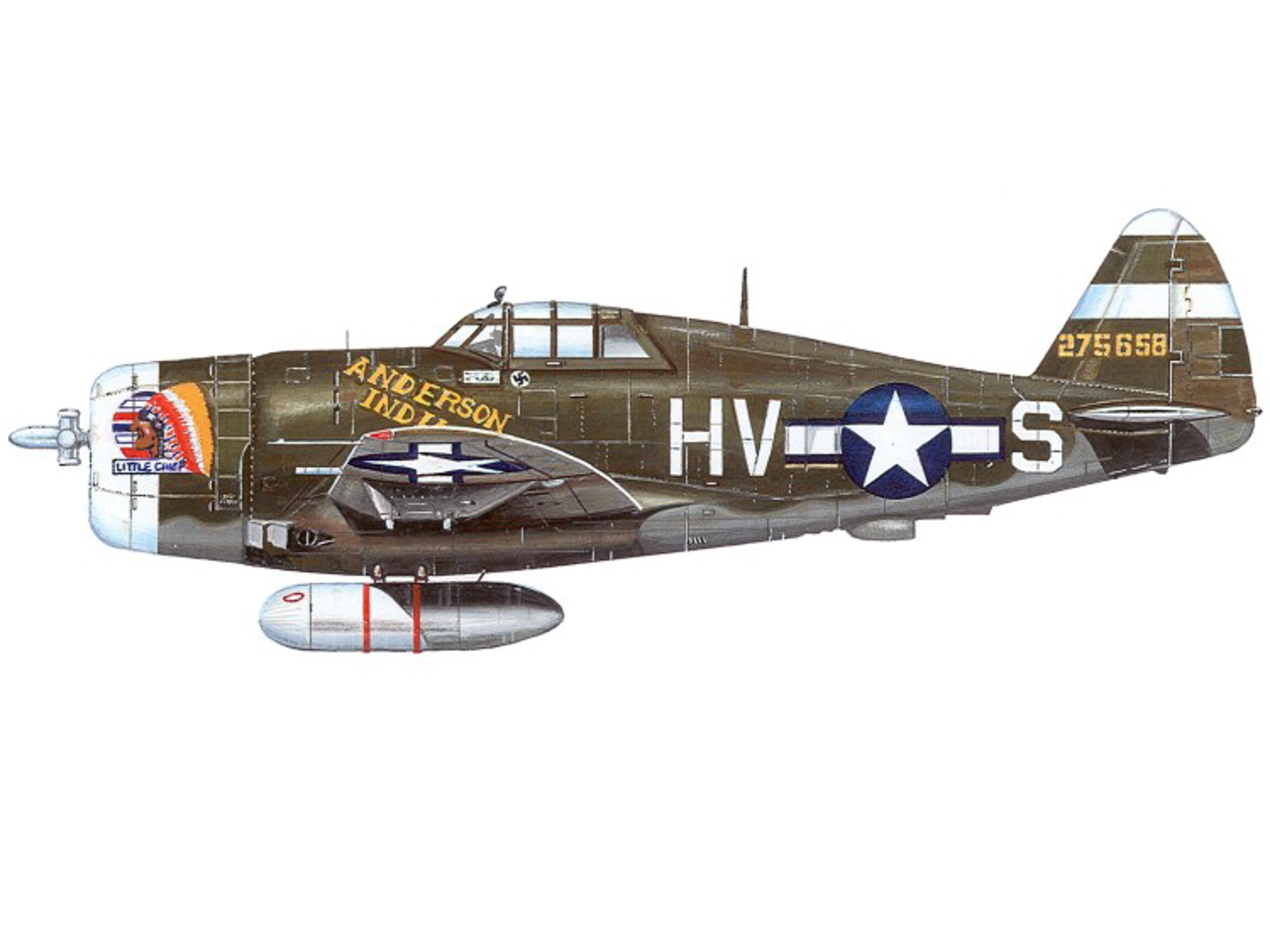 P-47D – Little Chief - Anderson Indian - 42-75658