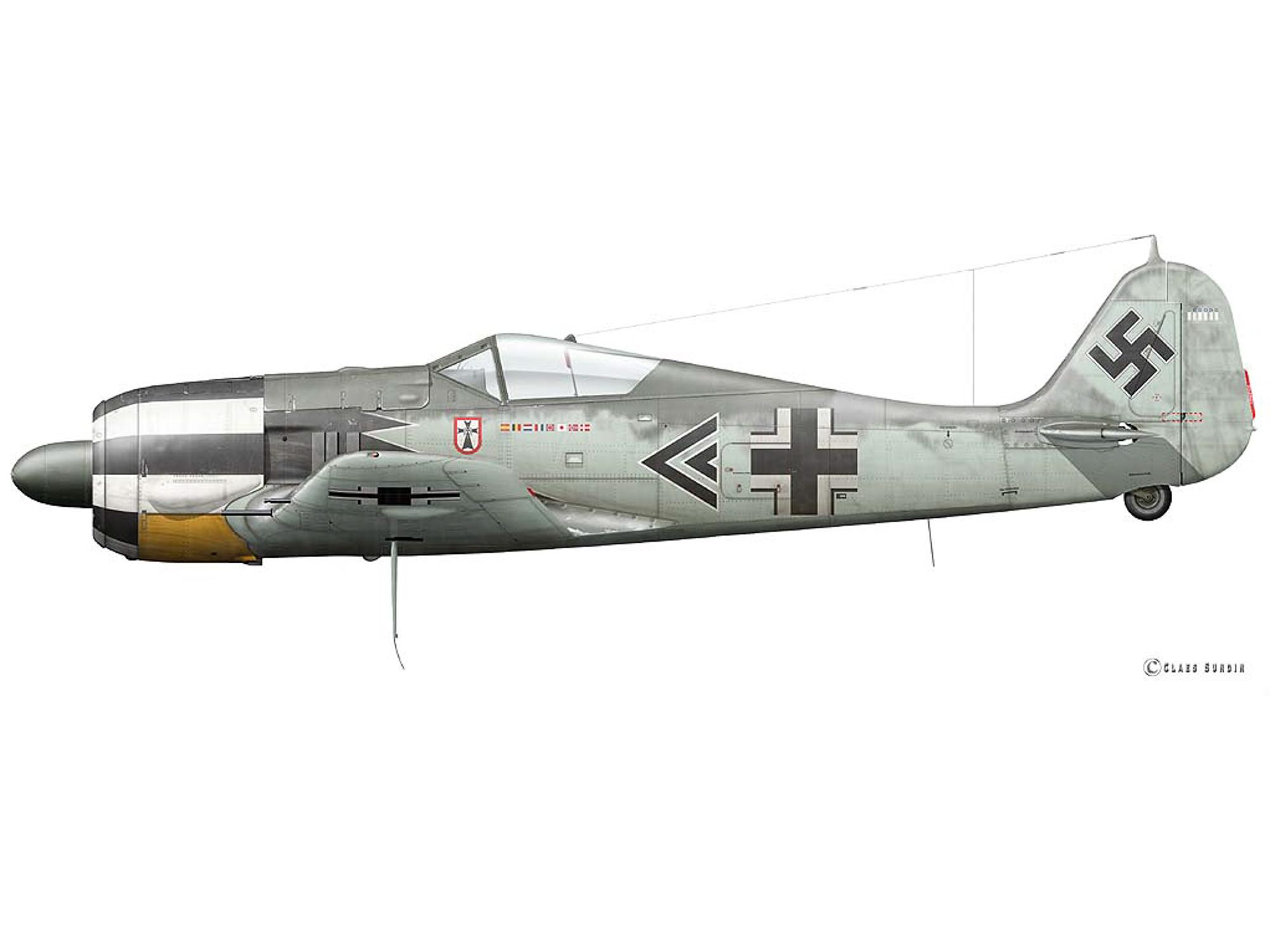 Fw 190A-5 - Black Bubble Chevron