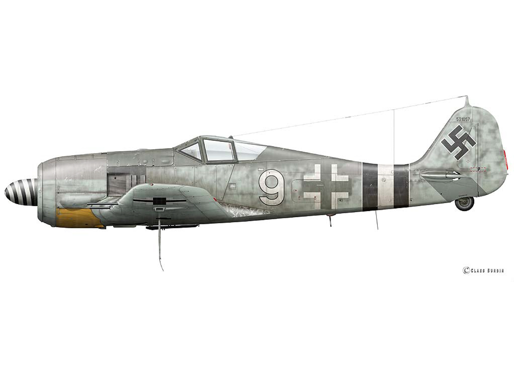 Fw 190A-6 - White 9 - 531057