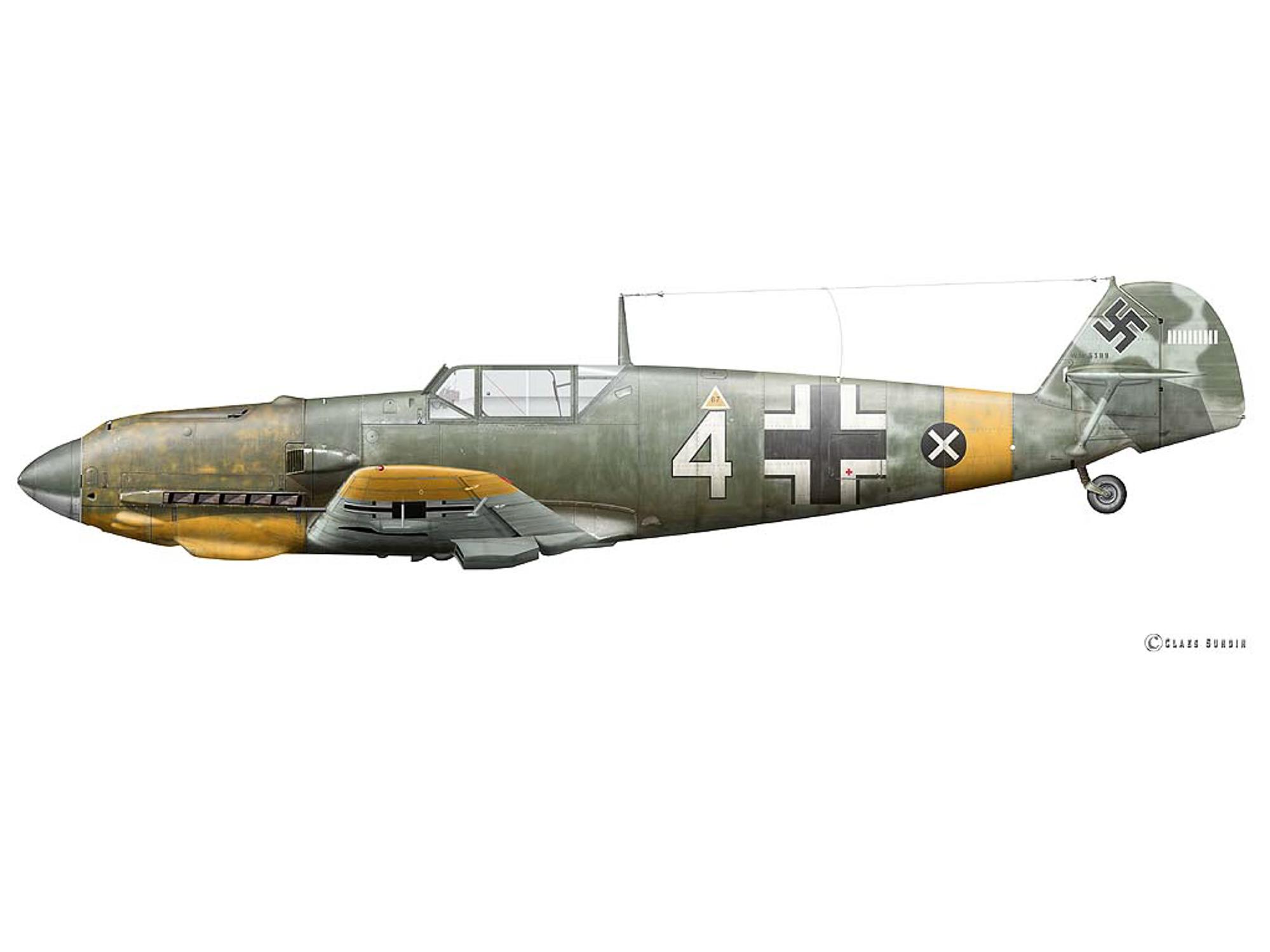 Bf 109E-7 - White 4 - W.Nr. 6389