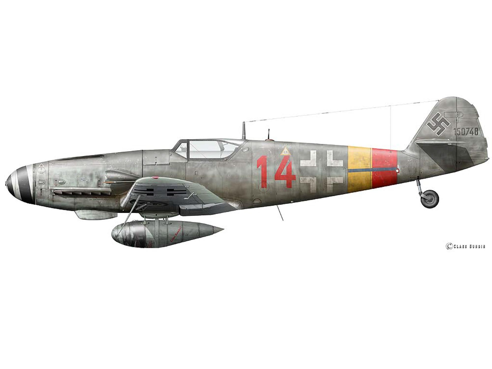 Bf 109G-10 - Red 14 - W.Nr. 150748