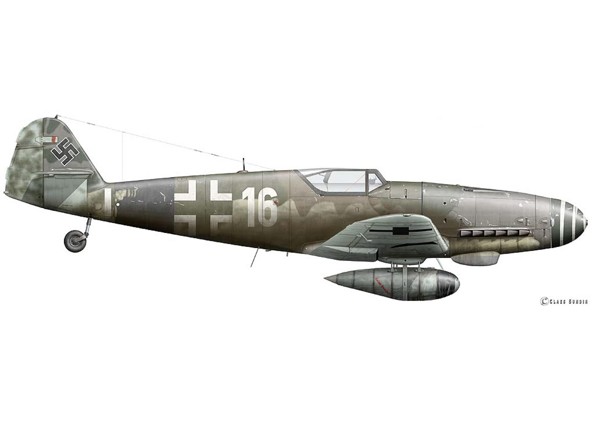 Bf 109K-4 - White 16