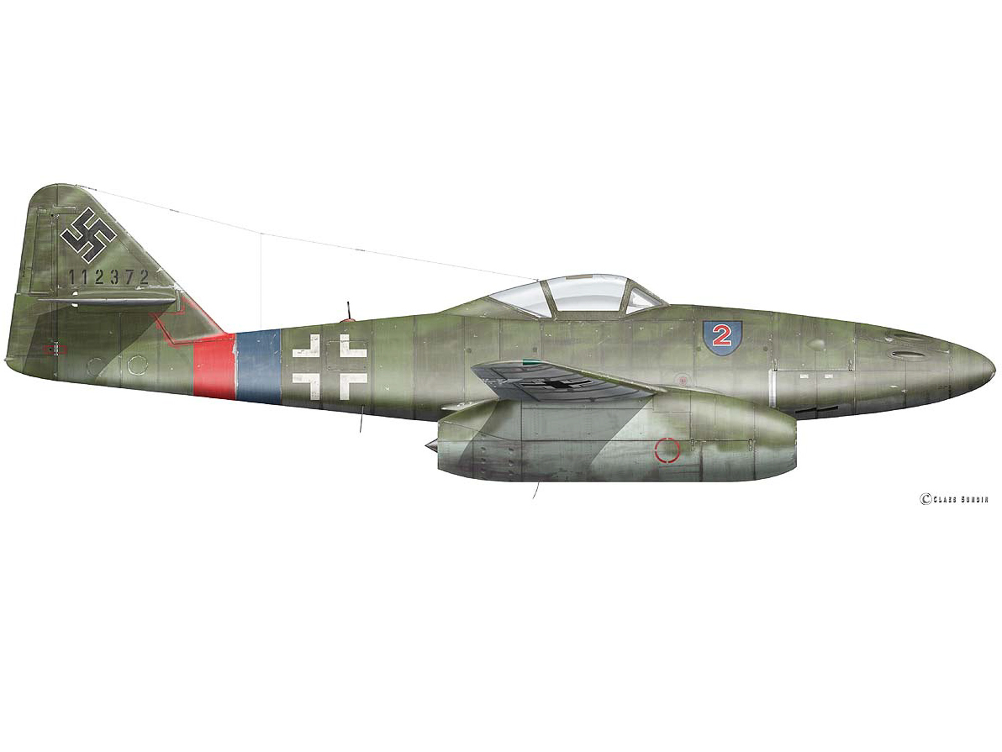 Me 262A-2a - Red 2 - 112372