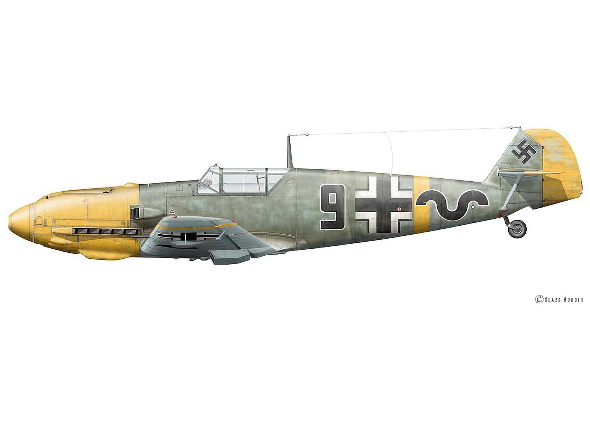 Bf 109E-3 - Black 9