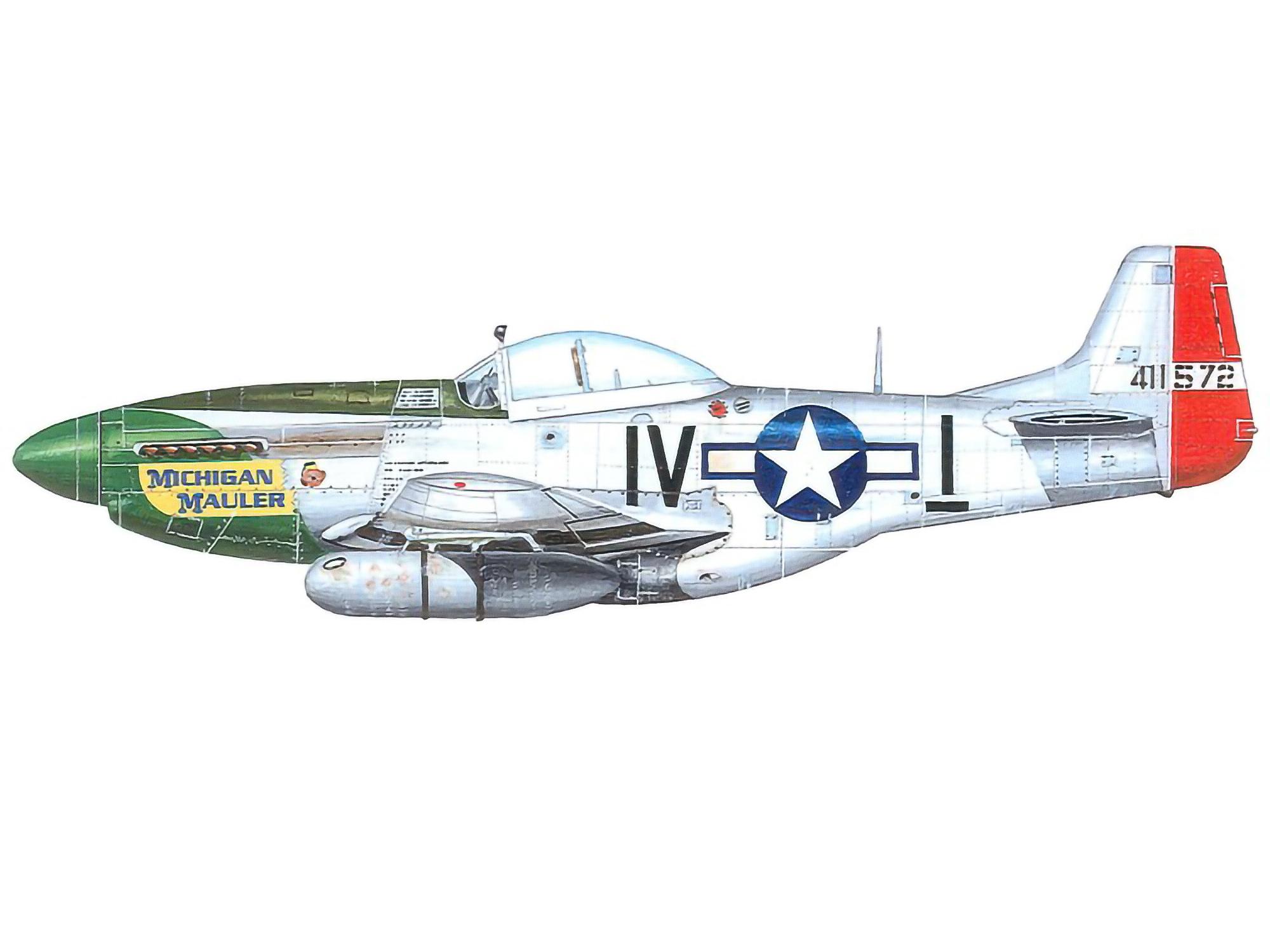 P-51K – Michigan Mauler – 44-11572